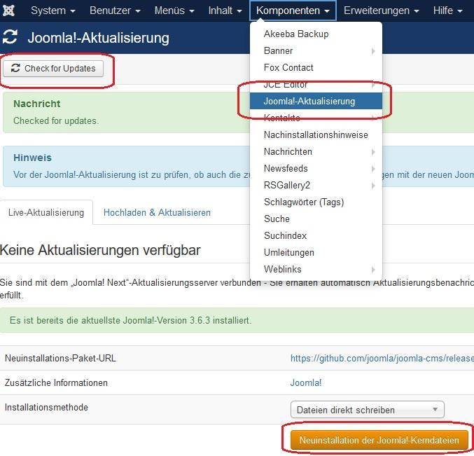 Joomla Error Editing Bearbeiten Modules