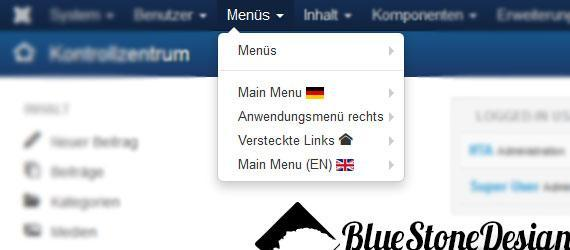 joomla menu language