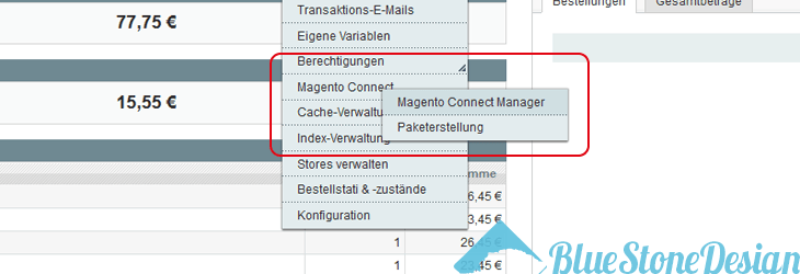 Magento Update mit Magento Connect
