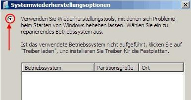 windows server sicherung systemwiederherstellungsoptionen