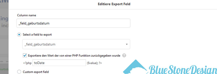 wordpress export all date