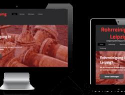 Webdesign Rohrreinigung Leipzig